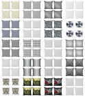 Ambesonne Grey Details Cushion Cover Set of 4 for Couch and Bed in 4 Sizes