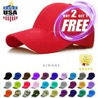 Plain Solid Baseball Cap Trucker  Army Blank Color Hat Ball Men Women Adjustable