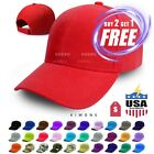 Plain Solid Baseball Cap Blank Color Army Hat Ball Men Women Adjustable Curved $4.47 USD on eBay