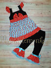 NEW Dr Seuss Cat in the Hat Ruffle Tunic Dress Girls Boutique Outfit Set