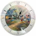 Disney Glass Wall Clock Thomas Kinkade Mickey Minnie Mouse Birthday Gift - NIB