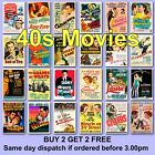 Poster Vintage Movie Posters 1940s 40s Film Poster Films HD Borderless Printing £2.97 GBP on eBay