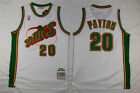 Men Gary Payton #20 Seattle Supersonics Classic White Throwback Swingman Jersey on eBay