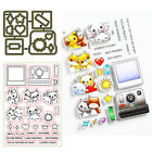 Animals Words Clear Stamps Coordinating dies Stencil Scrapbooking Crafts Cards