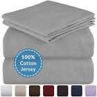 Mellanni Bed Sheet Set 100% Cotton Jersey Knit T-Shirt Sheets 4-Piece 300TC image
