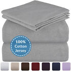 Mellanni Jersey Cotton Sheets w/ Deep Pockets, T-Shirt Knit Bed Set (4-Piece) image
