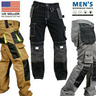 Внешний вид - Mens Work worker Safety Cordura Trousers Kneepad Cargo Pockets Working Pants