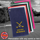 Golf Towel Personalised Embroidered Tournemant Fathers Day Gift Unisex