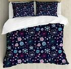 Retro Sketch Duvet Cover Set Twin Queen King Sizes with Pillow Shams