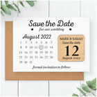 Classic PERSONALISED Wedding Calendar Save The Date Magnets Black and White