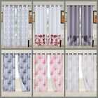 Kyпить 2PC Printed Blackout Window Curtains Bedroom Living Room White Lined Fabric  на еВаy.соm