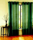 Patterned Printed Window Curtains 6 Bronze Nickel Finish Grommets Linen or Sheer
