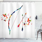 Ambesonne Waterproof Shower Curtain Cloth Fabric Set with Hooks
