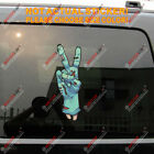 Zombie Peace Hand Decal Sticker Car Vinyl  reflective glossy pick size