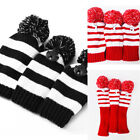 3Pcs/Set Knitted Golf Headcovers Golf Pom Club Head Covers Driver Fairway Hybrid