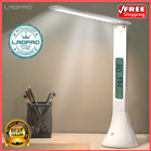 Foldable LED Desk Lamp Dimmable Table Lamp w/ Alarm Clock Home Night Light Torch