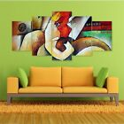Lord+Ganesha+Art+Split+5+Frames+Wall+Panels+for+Living+Room+%23174+-+HKTPIC-AU
