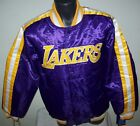 LOS ANGELES LAKERS Starter Snap Down Jacket PURPLE  SMALL on eBay