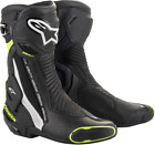 Alpinestars SMX Plus Vented Motorcycle Boots BLACK WHITE YELLOW