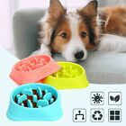 Pet Puppy Dog Cat Slow Feeder Anti Slip Choke No Gulp Bloat Water Bowl Feed Dish
