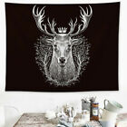 King Deer Wall Hanging Bedroom Tapestries Boho Pattern Modern Art Homes Decor