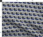 Back The Blue Thin Line Police Support Lives Fabric Printed by Spoonflower BTY