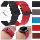 20mm 22mm Quick Release Retro Genuine Leather Wrist Watch Band Strap Bracelet US image