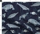 Fish Anatomy Skeletons Underwater Animals Fabric Printed by Spoonflower BTY