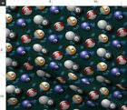 Pool Game Glimmericks Eight Ball Cue Fabric Printed by Spoonflower BTY $38.0 USD on eBay
