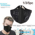 Reusable Mouth Face Cover With Filter Anti PM2.5 Dust Cycling Protector Lot UK