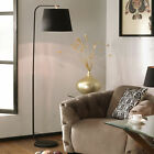 Modern Black Table Lamp and Black Floor Lamp with Black and Copper Lamp Shades