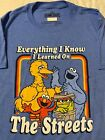 SESAME STREET Big Bird COOKIE MONSTER Elmo OSCAR The Grouch MEN'S New T-Shirt