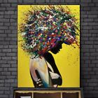 Abstract African Girl Wall Art Canvas Paintings Graffiti Art Posters Home Decor for sale  Shipping to Nigeria