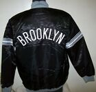 BROOKLYN NETS Starter Snap Down Jacket BLACK with BLACK Lining   M L XL 2X on eBay