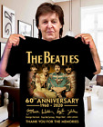 The-Beatles-60th-anniversary-1960-2020-signature T-Shirt FREE SHIPPING-NY94053 image