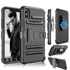 For iPhone 11 XS Max XR Xs Shockproof Heavy Duty Defender Case With Belt Clip