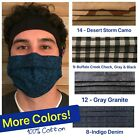 Kyпить FACE MASK FOR MEN, HANDMADE COTTON with NOSE WIRE - USA MADE на еВаy.соm