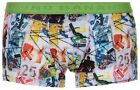 Bruno Banani Men's Street Art Hip Short Multicolour Trunk Boxer Brief Underwear