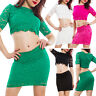 Complete Woman Top short Miniskirt Lace Stretch Tight Sexy VB-3557