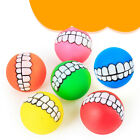 pet dog ball teeth funny silicon toy chew squeaker squeaky sound dogs play H HV