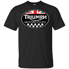 Triumph Motorcycles Biker Racing Mens Short Sleeve Gildan T-Shirt $22.98 USD on eBay