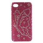 2X(Black Diamonte Hard Back Case Cover For Apple iPhone 4 X8P7)