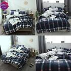 Bedding Sets 3 Pc Cotton Duvet Cover Checkered Plaid Stripes  Geometric