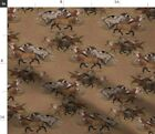 Horse Brown Cowboy Pony Western Fabric Printed by Spoonflower BTY
