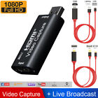 Hdmi To Usb Video Capture Card 1080p Recorder Game/video Streamer Iphone Samsung