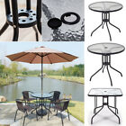 Round/square Metal Bistro Table Patio Garden Coffee Dining Tables With Glass Top