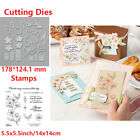 Lace Frame Flower Transparent Clear Stamp with Cutting Die Set Diy Scrapbooking