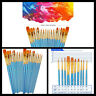 Round Pointed Tip Paint Brushes Nylon Hair Paintbrushes 20 Pcs Artist Tools NEW