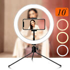 10'' LED Makeup Selfie Ring Light Tripod Stand for Camera YouTube Video Live