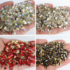 100pcs Nail Art Rhinestones Mix Shapes 3D Decoration Flat Elongated Glass Stones